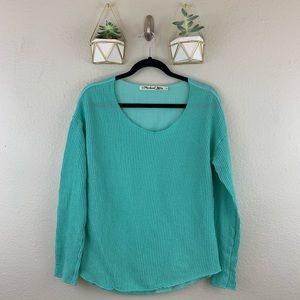 Michael stars knit long sleeve top one size